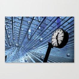 Bubble Clock  Canvas Print
