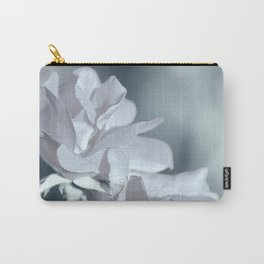 Twin White Roses Carry-All Pouch
