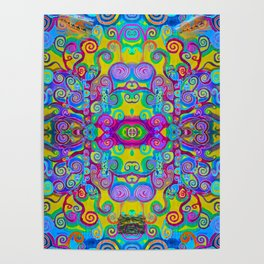 Klimt Tree of Life Mandala Poster