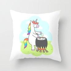 Unicorn Potion Throw Pillow