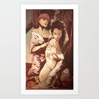 pagan Art Prints featuring Pagan Tattoos by IzzyStanic