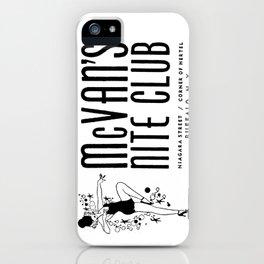McVan's Nite Club Black iPhone Case