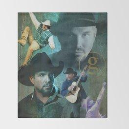 Garth Brooks | Garth Brooks Art Print Throw Blanket