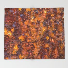 Heavy Rust Throw Blanket
