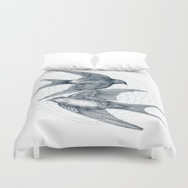 Two Swallows Duvet Cover