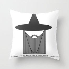 Gandalf Minimalist Throw Pillow
