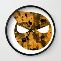 soul eater Wall Clocks featuring Soul Eater by Bradley Bailey