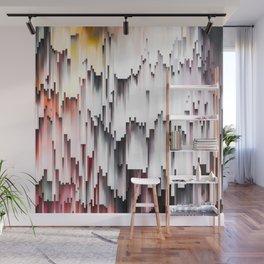 White Black Mauve Cascade Abstract Wall Mural