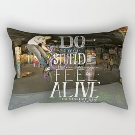 Do Stupid Things - Mountain Goats Rectangular Pillow