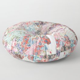 Washington map flowers Floor Pillow