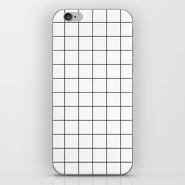 Grid Pattern Stripes Lines Black and White Minimalist Geometric Stripe Line iPhone Skin