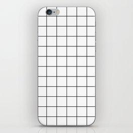 Grid Stripe Lines Black and White Minimalist Geometric iPhone Skin