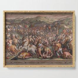 Classic Art The battle of Marciano in Val di Chiana By Giorgio Vasari Serving Tray