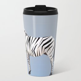 Geometric Zebra Travel Mug
