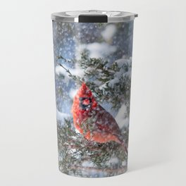 Let It Snow (Northern Cardinal) Travel Mug