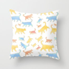 Watercolor Cats - Cats Everywhere! Throw Pillow