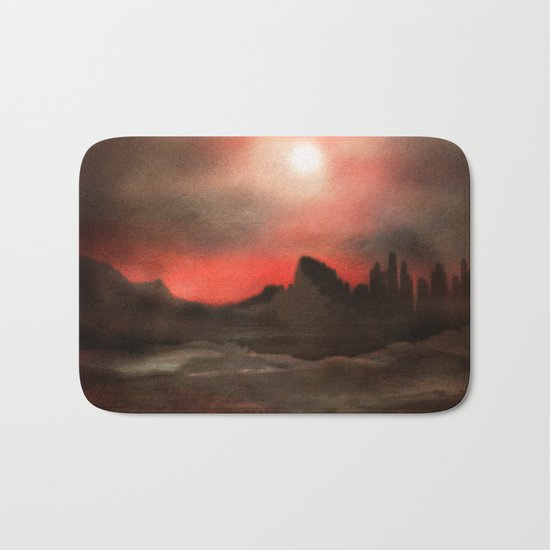 Passion in the sky Bath Mat