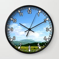 scotland Wall Clocks featuring Highlands Scotland by seb mcnulty