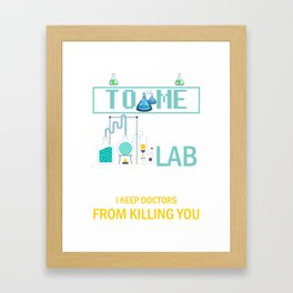 Medical Lab Technician for  Laboratory Technologist  Product Framed Art Print