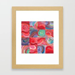 repetitive moments in air Framed Art Print