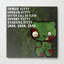Zombie Kitty Lineup Metal Print
