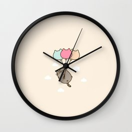 Cat me to the moon Wall Clock