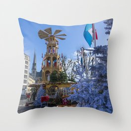 Luxembourg winter turbine Throw Pillow