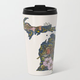 Michigan Metal Travel Mug