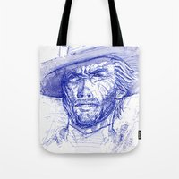 clint barton Tote Bags featuring Clint by MOK designz