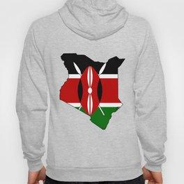Kenya Map with Kenyan Flag Hoody