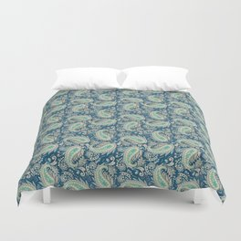Meredith Paisley - Cerulean Blue Duvet Cover