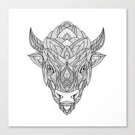 American Bison Zentagle Canvas Print