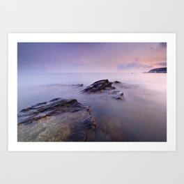 Cabria beach Art Print