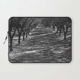 Black & White Almond Orchard Pencil Drawing Photo Laptop Sleeve