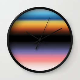 The Skys Colour Wall Clock