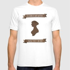 I always find Austen too short White SMALL Mens Fitted Tee