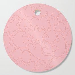 Blob Collage - Pink Cutting Board