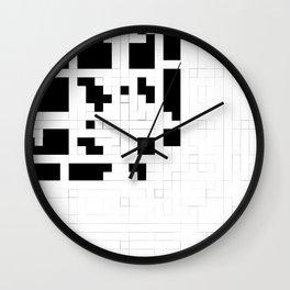 Monochrome Pixels Wall Clock