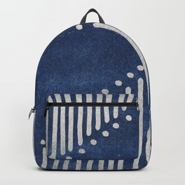 Indigo Deco Chev Backpack