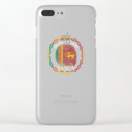 Sri Lanka Its In My DNA Clear iPhone Case