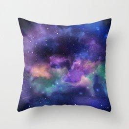 Fantasy Space Nebula Throw Pillow