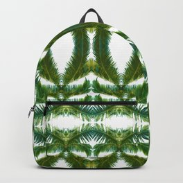 Palm Leaf Kaleidoscope (on white) #2 Backpack