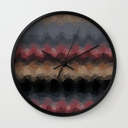 """Abstract pattern """"Black and red wave"""" . Wall Clock"""