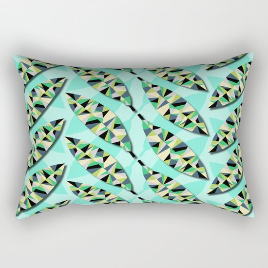 Geometric Leaves Rectangular Pillow