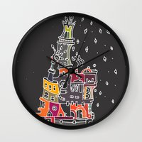 compass Wall Clocks featuring Compass by inktheboot