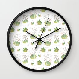 Shy Unicorn Pattern Wall Clock