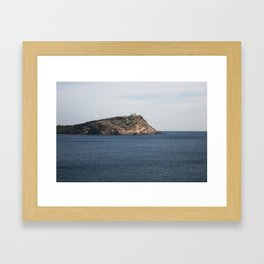 Greek seascape - landscape photography poster - Cape Sounio - Greece Framed Art Print
