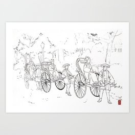 Once Upon A Time In Japan 01 Art Print