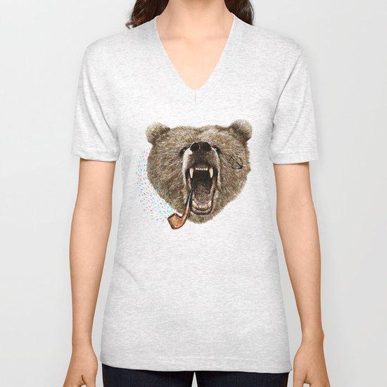Angry Bear Unisex V-Neck