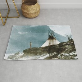 Echoes Call - American Indian Camp Rug